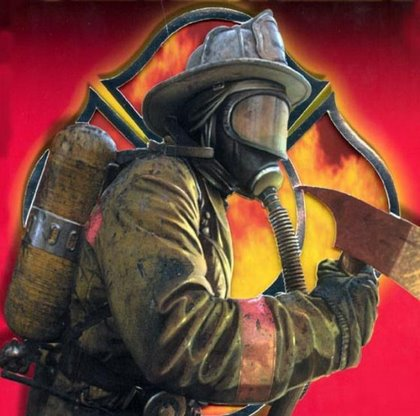 A firefighter in full gear